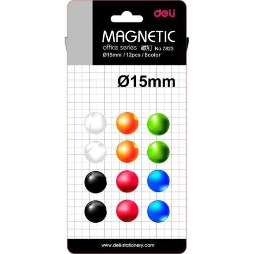 Magneti Whiteboard 15mm 12 Buc/Set Deli