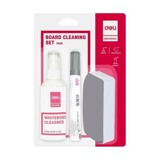 Kit Whiteboard (Burete, Spray, 2 Markere) Deli