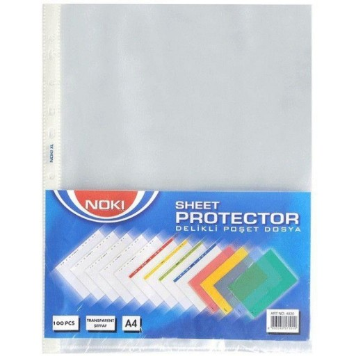 Folie Protectie A4 Cristal 75 Microni 100/Set Noki