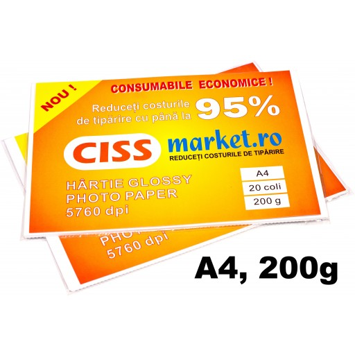hartie photo glossy cissmarket A4