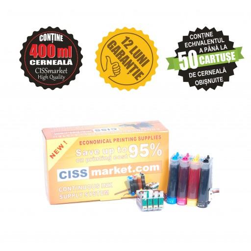 CISS pt. Epson Workforce WF-3010 / WF-3520 / WF-3530 / WF-3540 / WF-7015 / WF-7515 / WF7525