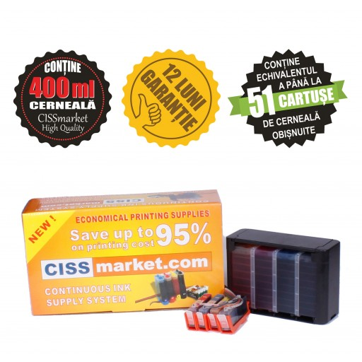 CISS pt. HP 655 cu chipuri resetabile sigilat