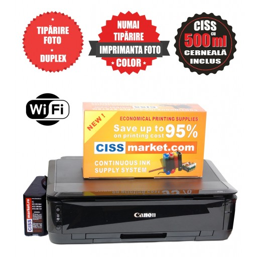 Imprimanta Canon Pixma IP7250 CISS, WiFi  labels