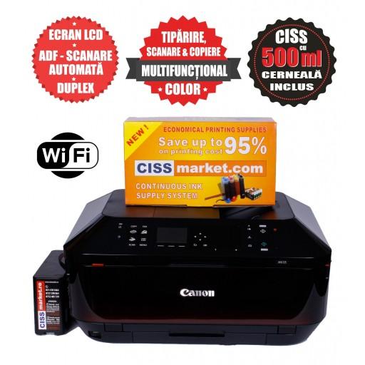 Canon Pixma MX725 CISS, ADF, Duplex, Fax, WiFi label