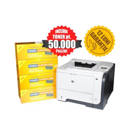 HP LaserJet P3015dn + TONER pt. 5 ani CISSmarket