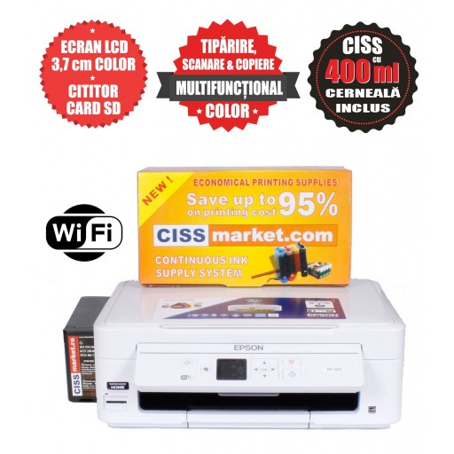 Epson Expression Home XP-345 CISS, LCD, WiFi labels