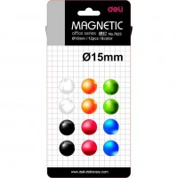 Magneti Whiteboard 15mm 12 Buc/Set Deli