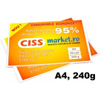 hartie photo glossy cissmarket A4 240g