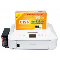 imprimanta Canon Pixma MG6650 cu CISS frontal